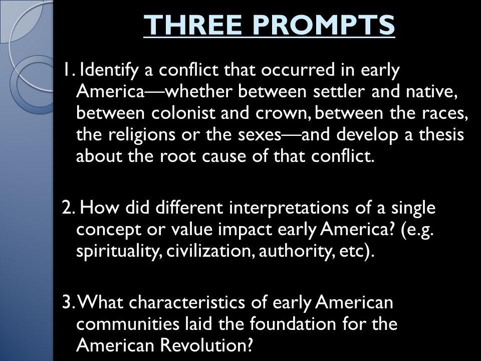 THREE PROMPTS 1.