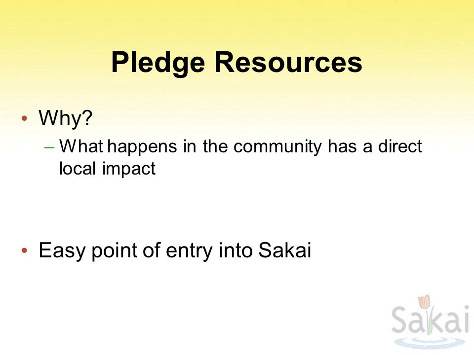Pledge Resources Why.