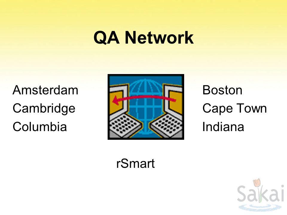 QA Network Amsterdam Boston Cambridge Cape Town Columbia Indiana rSmart
