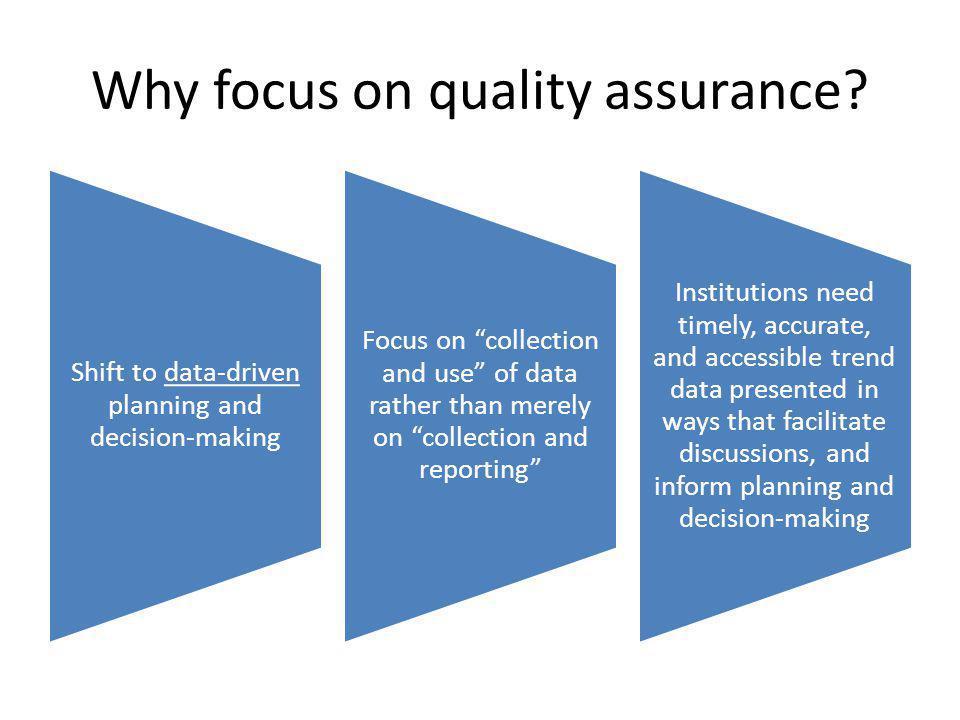 Strategic planning Robust QA Practices Transformational change