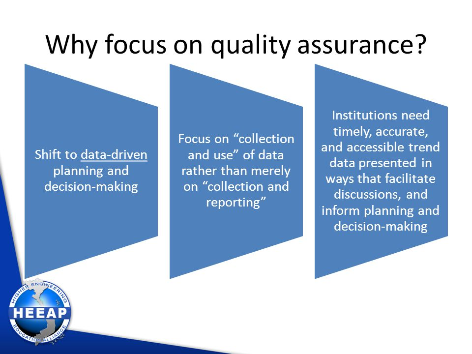 Why focus on quality assurance.