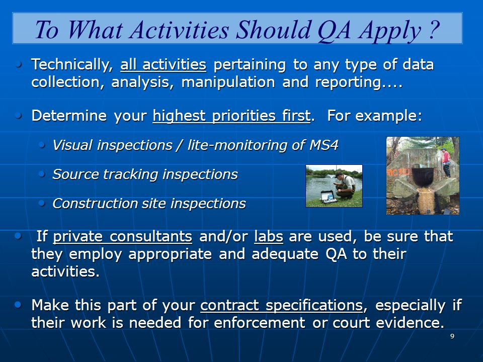 9 To What Activities Should QA Apply .