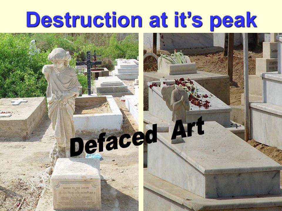 Destruction at it's peak