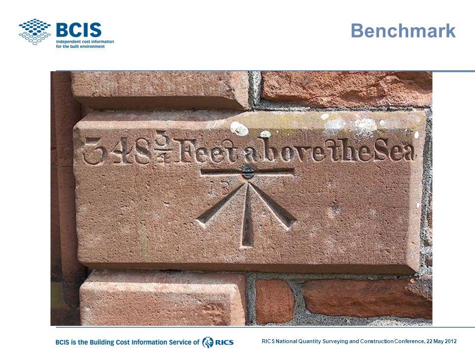 RICS National Quantity Surveying and Construction Conference, 22 May 2012 Benchmark
