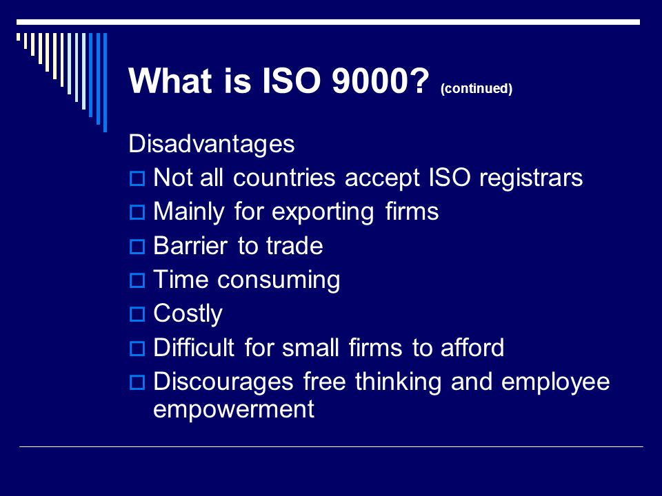 Background Information What is the meaning of QS-9000.