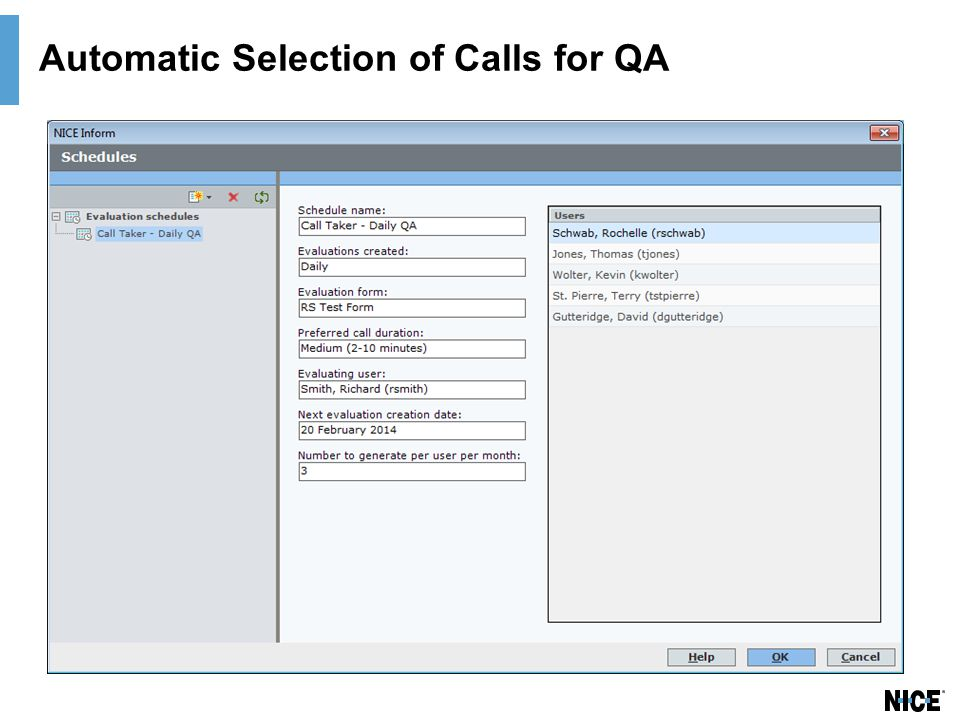 Automatic Selection of Calls for QA