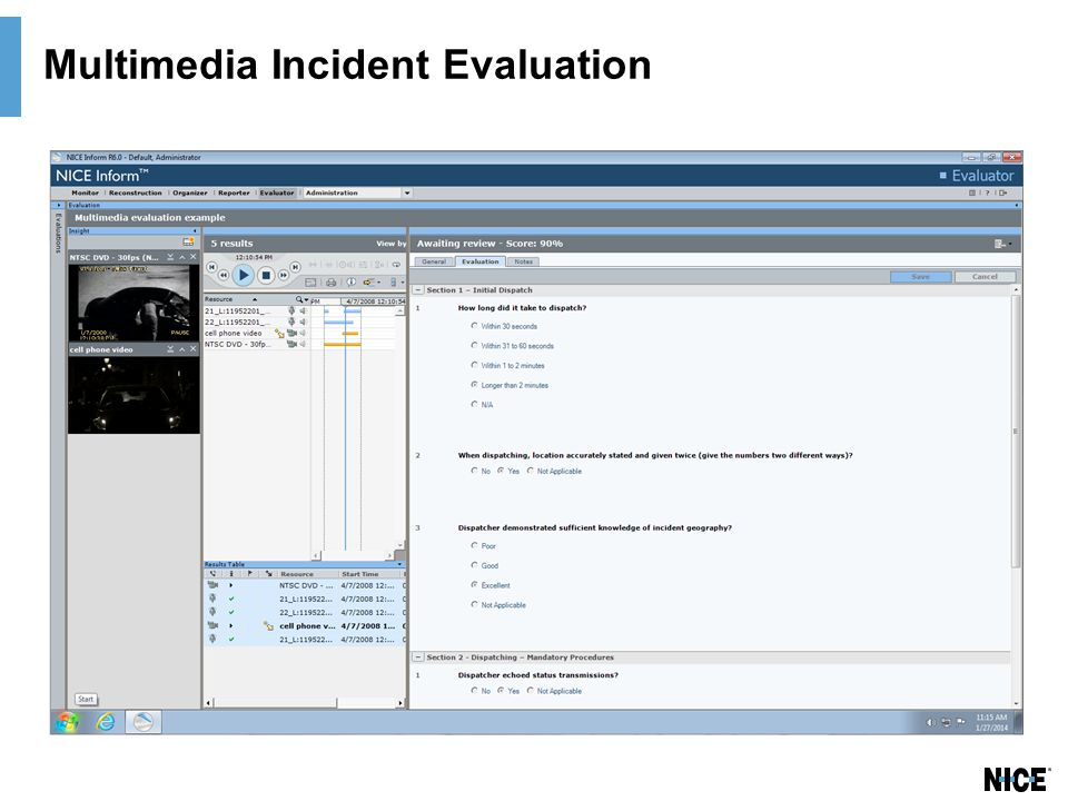 Multimedia Incident Evaluation