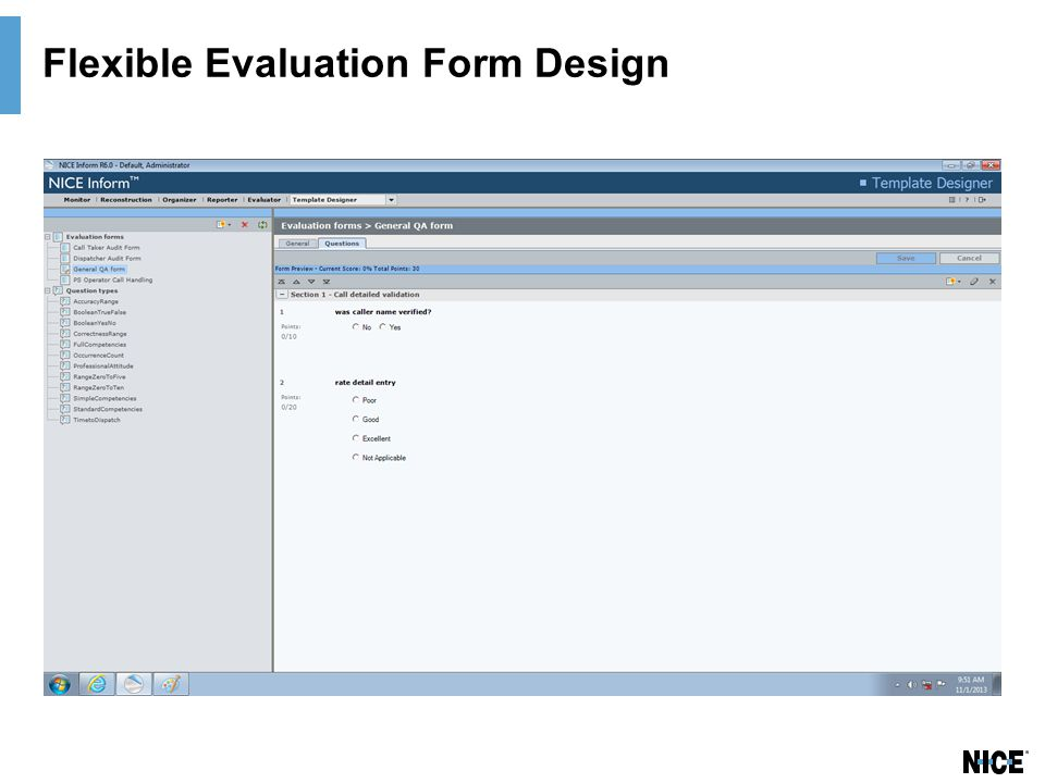 Flexible Evaluation Form Design