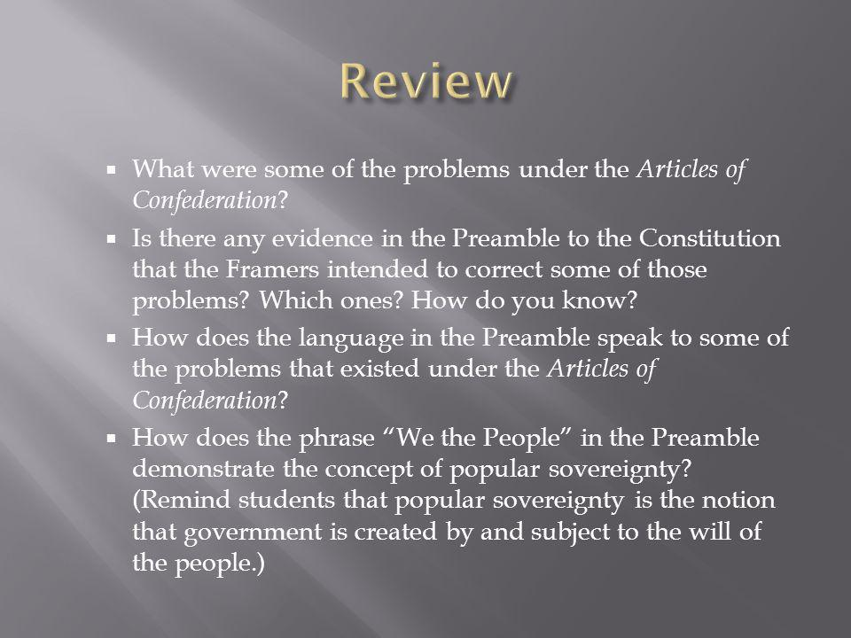  What were some of the problems under the Articles of Confederation .