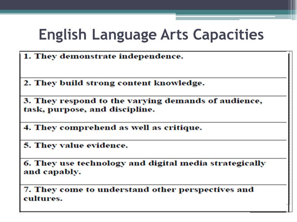 English Language Arts Capacities