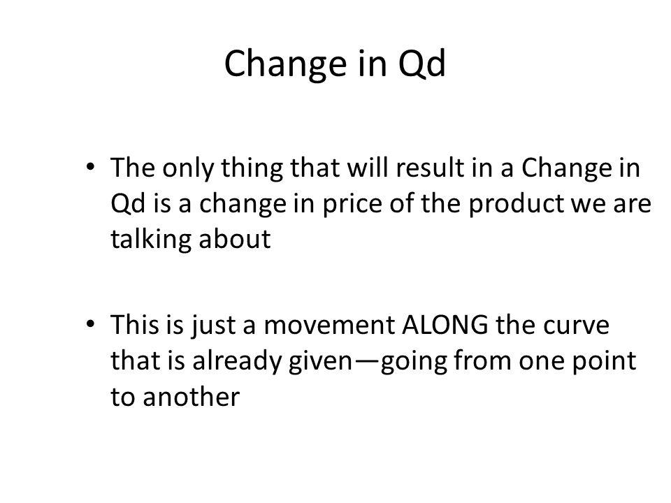 Change in Qd