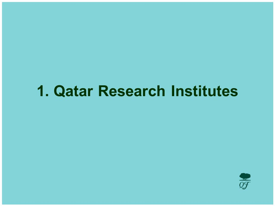 Develop and Utilize Human Potential 1. Qatar Research Institutes