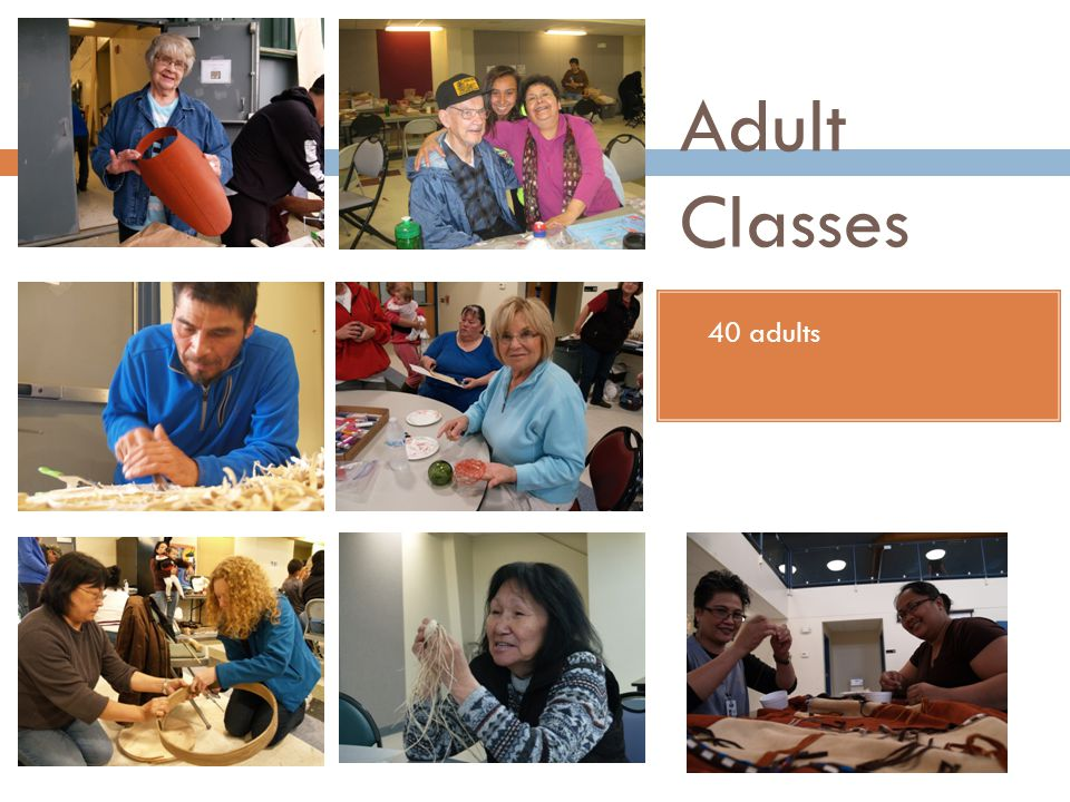 Adult Classes 40 adults