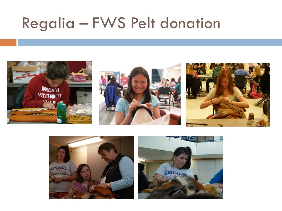 Regalia – FWS Pelt donation