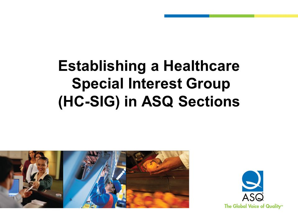 Establishing a Healthcare Special Interest Group (HC-SIG) in ASQ Sections