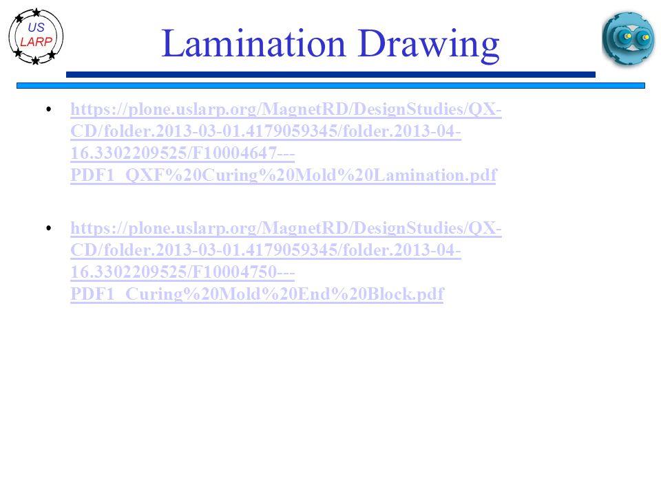 Lamination Drawing https://plone.uslarp.org/MagnetRD/DesignStudies/QX- CD/folder.2013-03-01.4179059345/folder.2013-04- 16.3302209525/F10004647--- PDF1