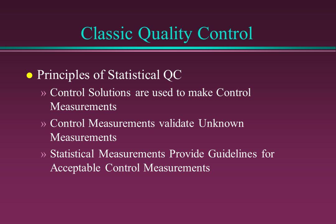 Case Studies.... practical QC l Set Medically Useful Control Procedures »Example: Digoxin