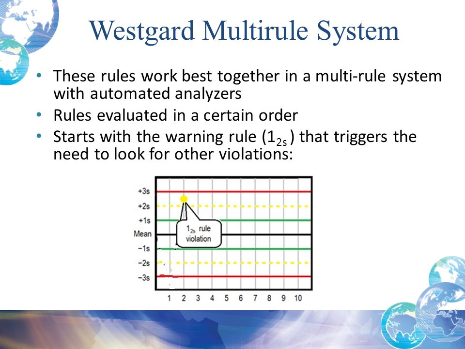 These rules work best together in a multi-rule system with automated analyzers Rules evaluated in a certain order Starts with the warning rule (1 2s )