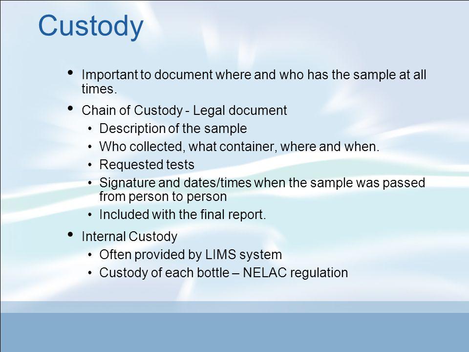 Laboratory Quality Control Quality Control designed to check four general areas.