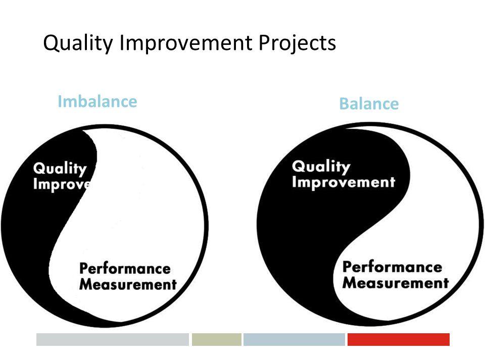 Quality Improvement Projects Imbalance Balance