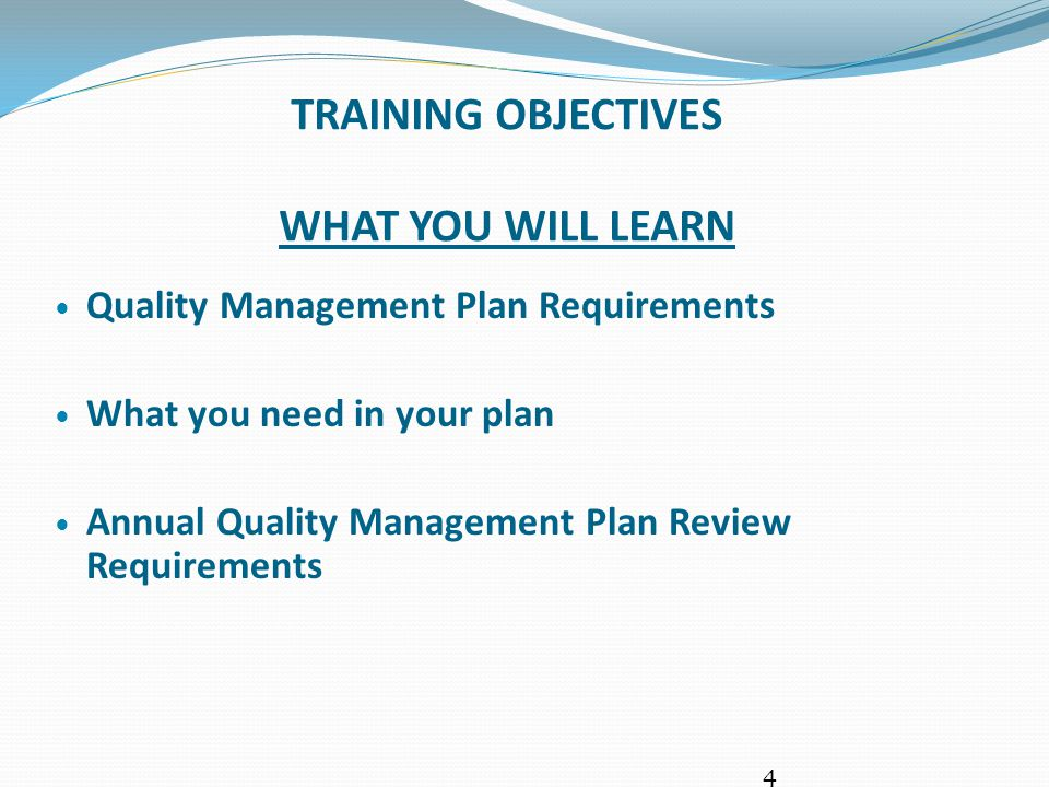 WHY DO QUALITY MANAGEMENT PLANS.