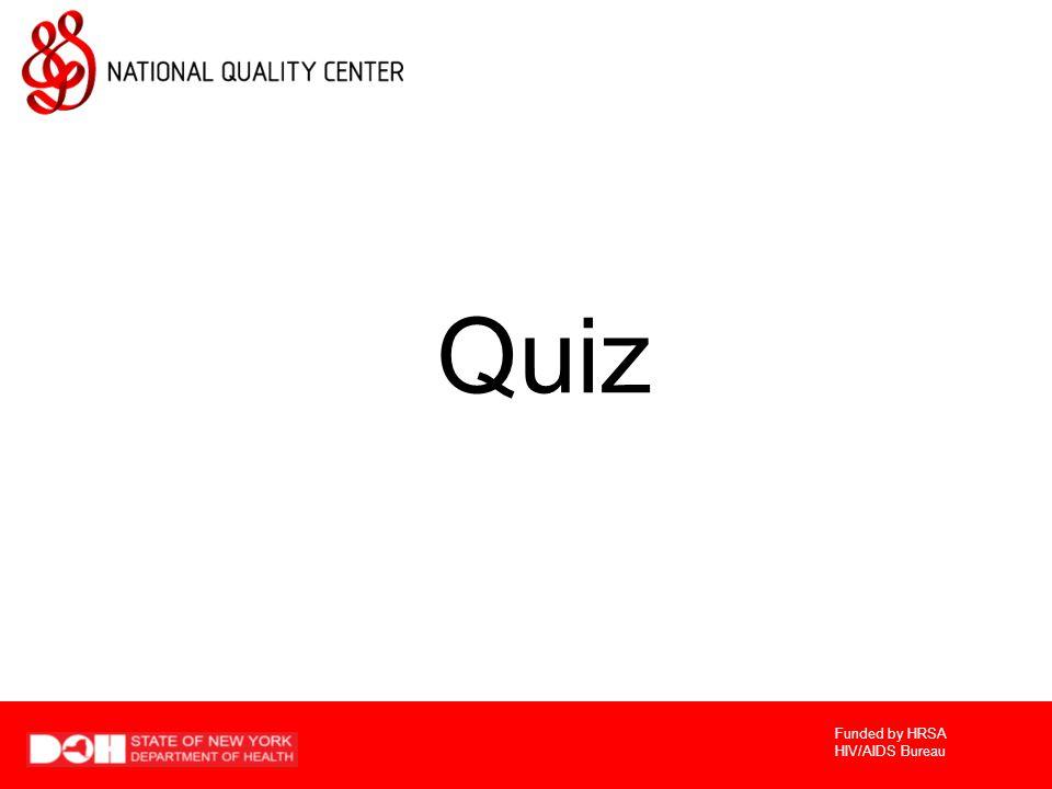 Funded by HRSA HIV/AIDS Bureau Quiz