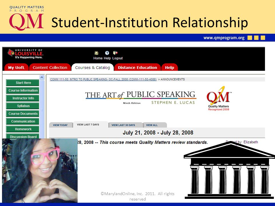 Student-Institution Relationship ©MarylandOnline, Inc. 2011. All rights reserved