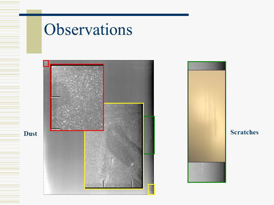 Observations Dust Scratches