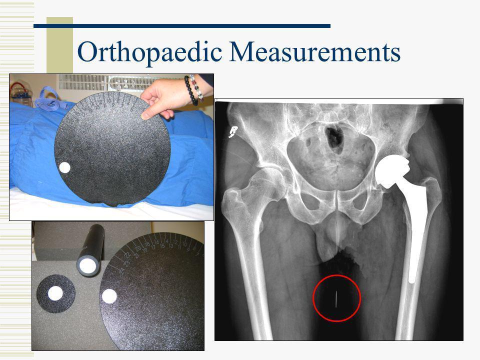 Orthopaedic Measurements