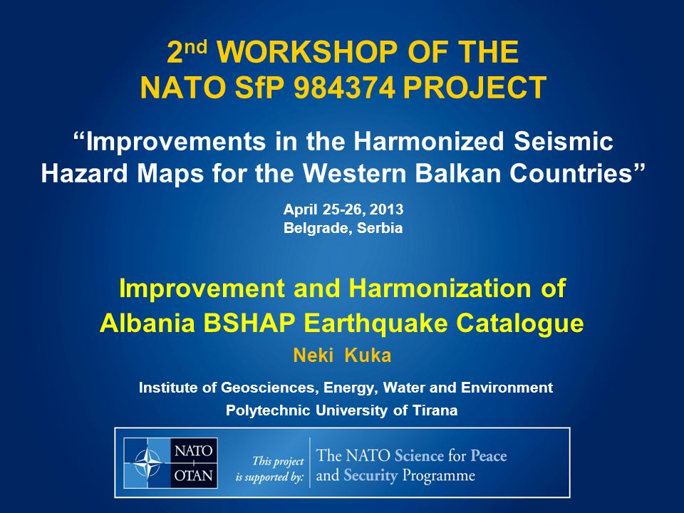 Investigating the data for the earthquakes occurred within Albania, examining for missing or duplicated events, as well as improvement of their location and magnitude characterization.