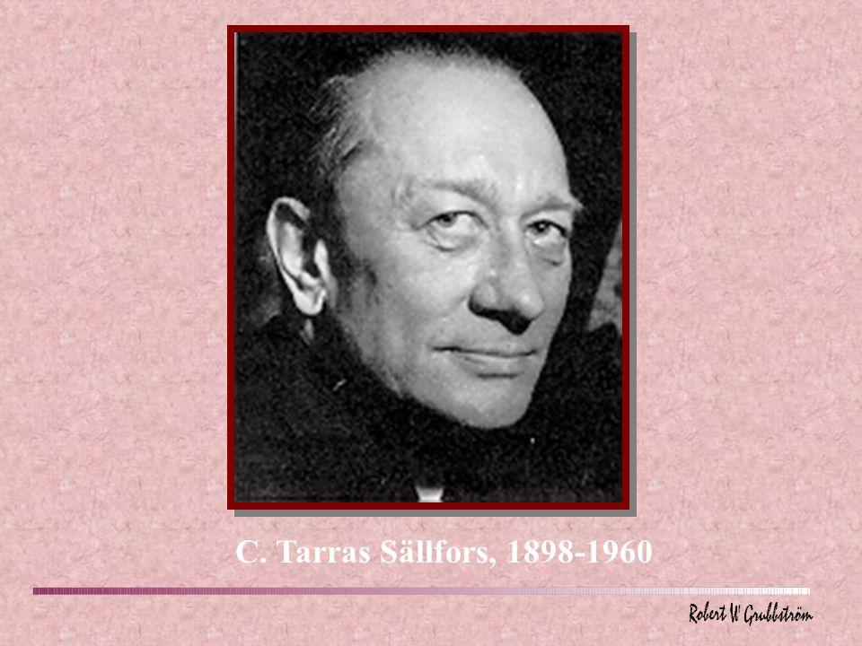 C. Tarras Sällfors, 1898-1960