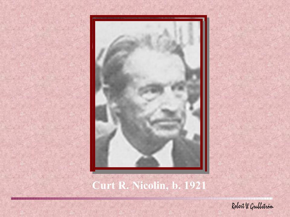 Curt R. Nicolin, b. 1921