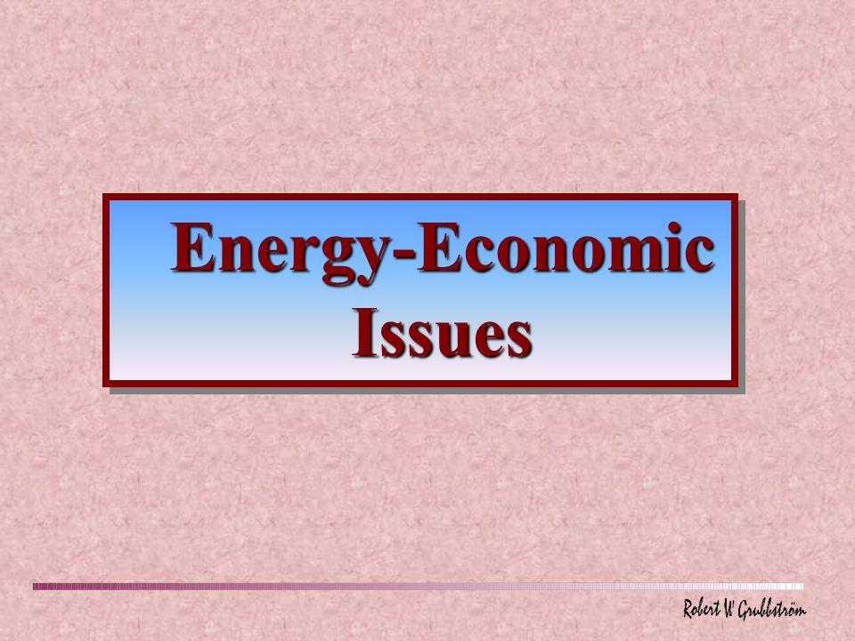 Energy-Economic Issues