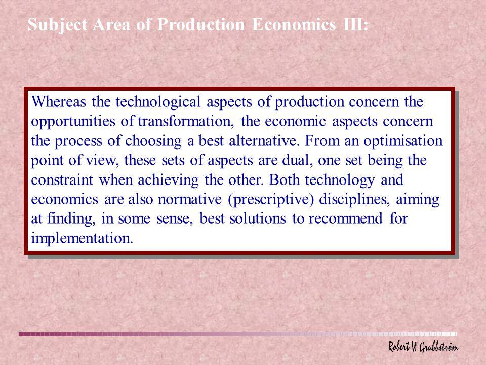 Integration of Economics and Technology Technology