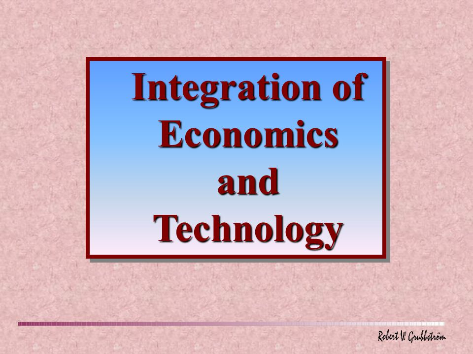 Production Economics attempts to integrate technology/engineering and economics/management.