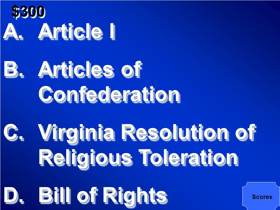 $300 First Ten Amendments to the Constitution