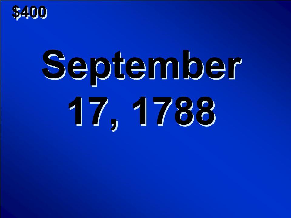 $300 A.American Revolution B.Articles of Confederation C.Civil War D.Bill of Rights A.American Revolution B.Articles of Confederation C.Civil War D.Bill of Rights Scores