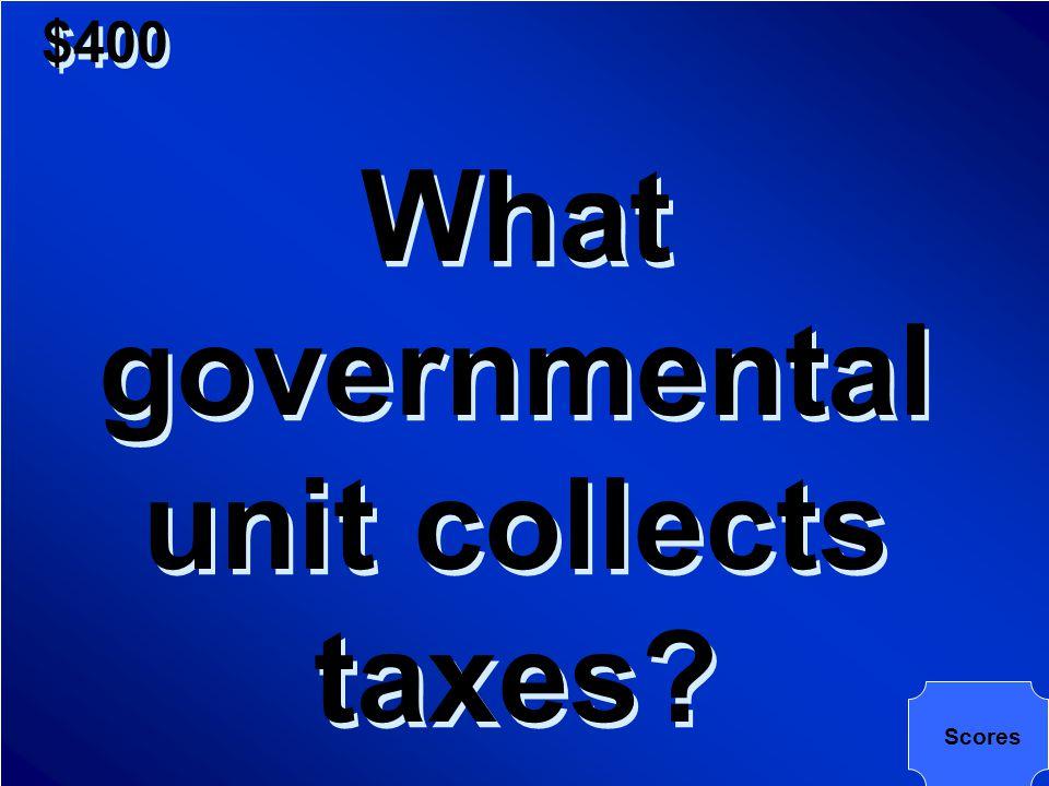 $400 The Internal Revenue Service of the Treasury