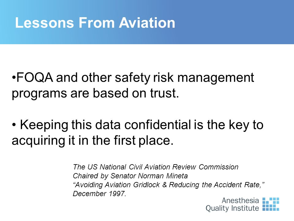 "Lessons From Aviation The US National Civil Aviation Review Commission Chaired by Senator Norman Mineta ""Avoiding Aviation Gridlock & Reducing the Acc"