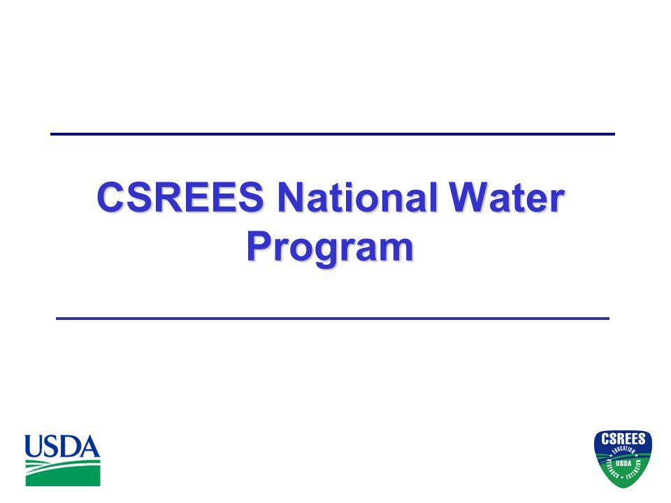CSREES National Water Program