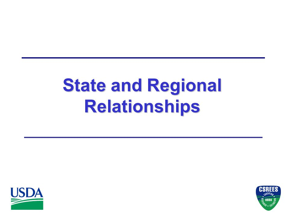 State and Regional Relationships
