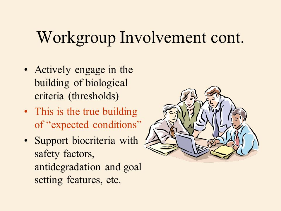 Workgroup Involvement cont.