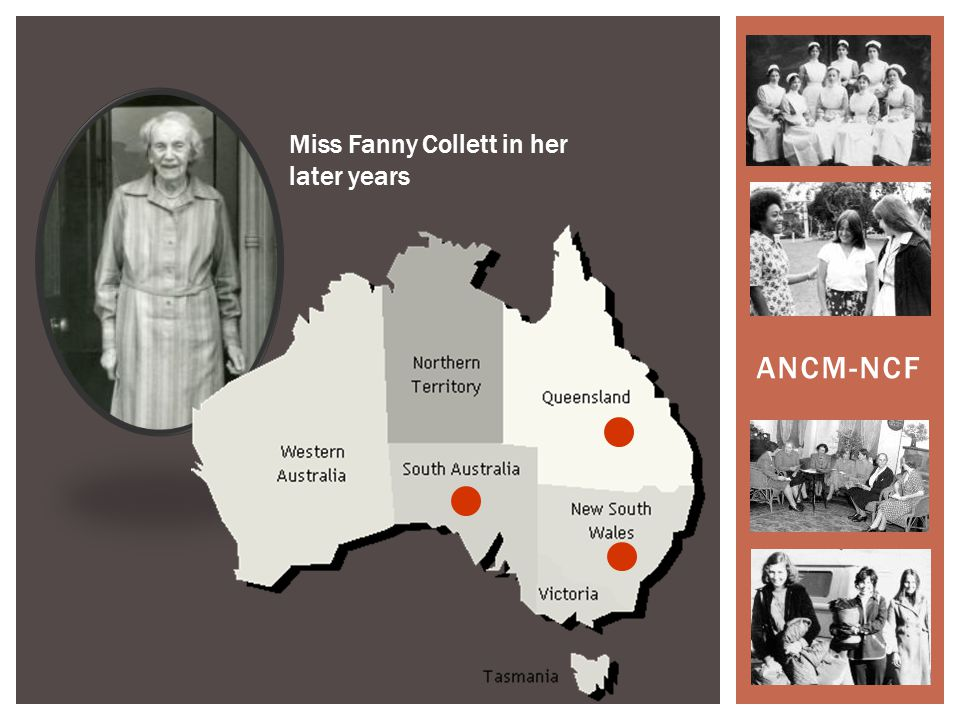 ANCM-NCF Miss Fanny Collett in her later years