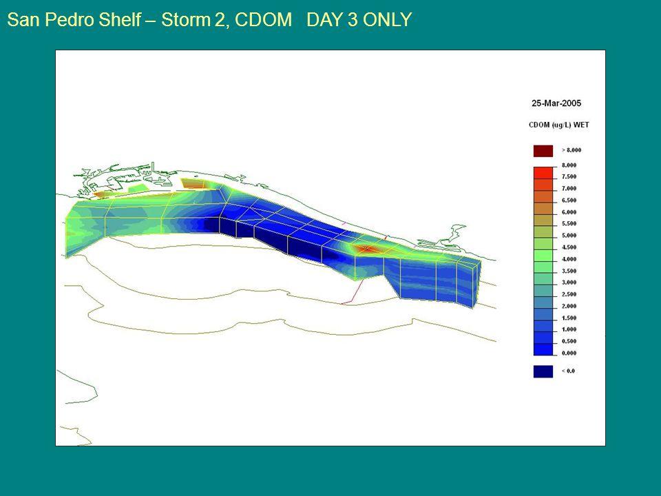San Pedro Shelf – Storm 2, CDOM DAY 3 ONLY