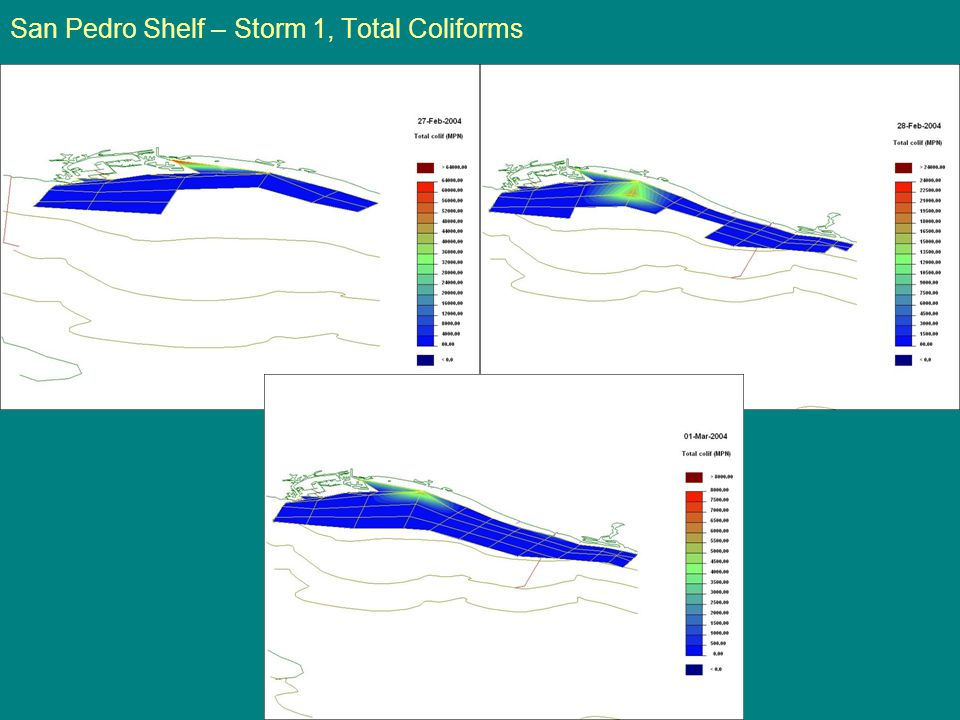 San Pedro Shelf – Storm 1, Total Coliforms