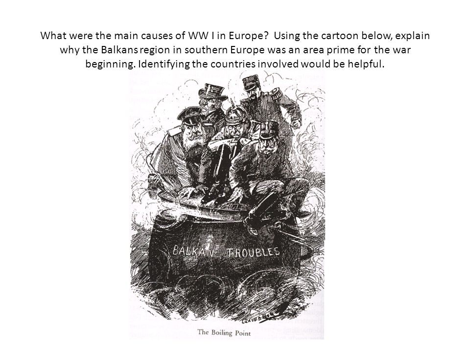 What were the main causes of WW I in Europe.