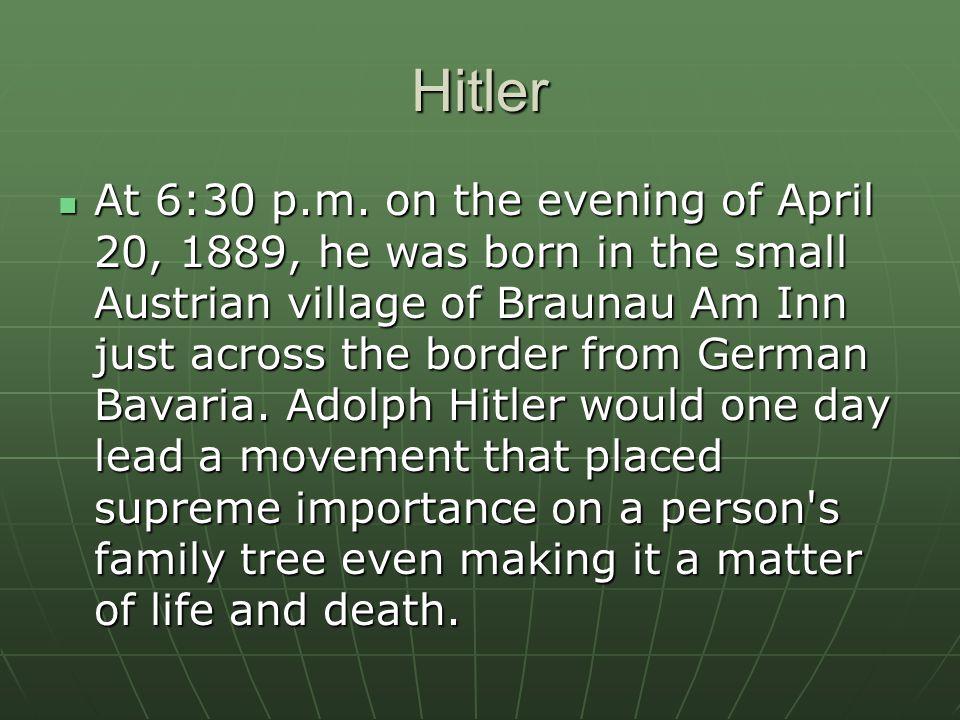 Hitler At 6:30 p.m.