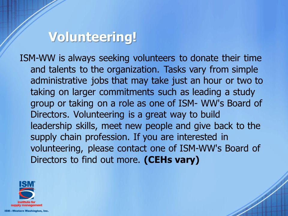 Volunteering.