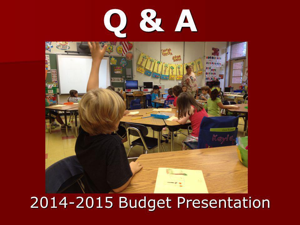 Q & A 2014-2015 Budget Presentation