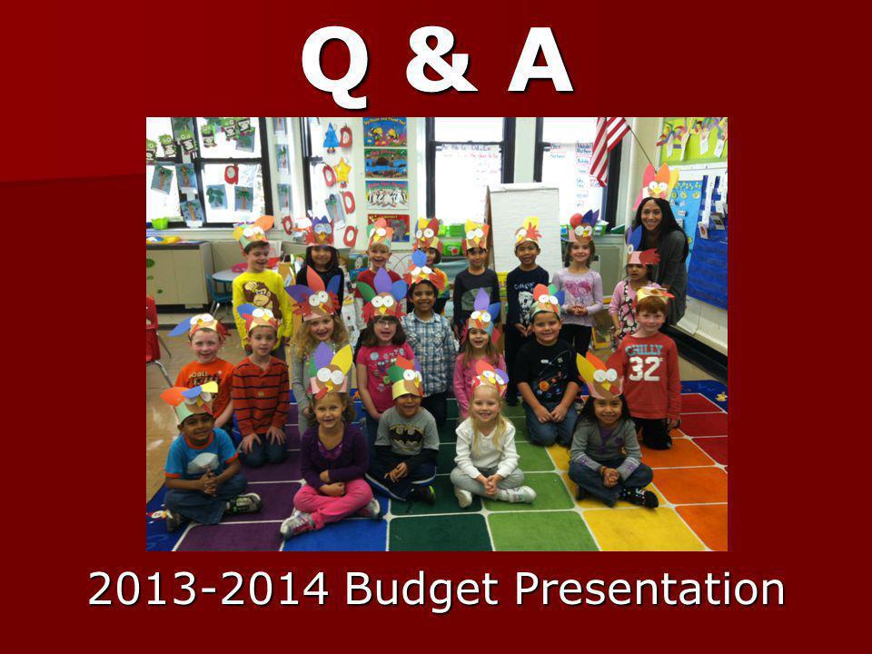 Q & A 2013-2014 Budget Presentation